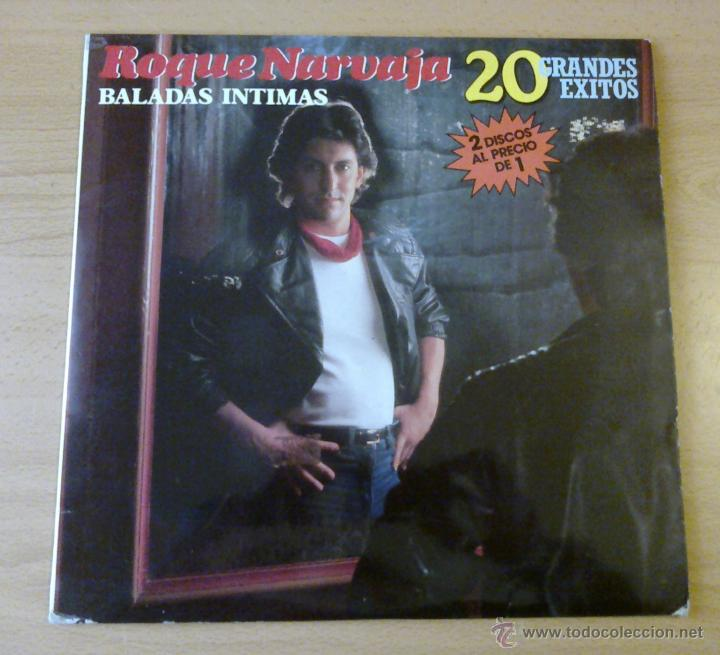 ROQUE NARVAJA - BALADAS INTIMAS (2 LP 1985 FONOMUSIC) CANTAUTOR ARGENTINO (Música - Discos de Vinilo - EPs - Cantautores Españoles)