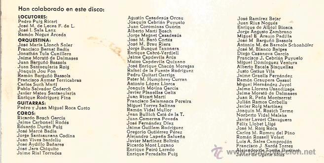 Discos de vinilo: EP LA SALLE BONANOVA ( 22 DE MAYO DE 1965) : UN DIA DE PRIMAVERA - Foto 5 - 48925044