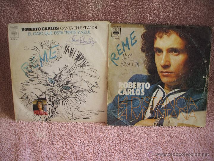 VINILO, DOS SINGLES DE ROBERTO CARLOS, DOS DISCOS DE 45 RPM, EDICIONES ESPAÑOLAS. (Música - Discos - Singles Vinilo - Cantautores Internacionales)