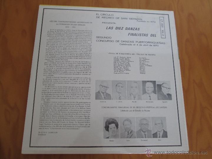 Discos de vinilo: EL CIRCULO DE RECREO DE SAN GERMÁN. 5 VINILOS DE DANZAS PUERTORRIQUEÑAS. - Foto 6 - 48932199