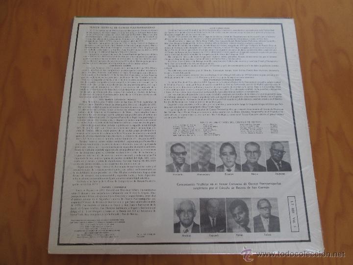 Discos de vinilo: EL CIRCULO DE RECREO DE SAN GERMÁN. 5 VINILOS DE DANZAS PUERTORRIQUEÑAS. - Foto 8 - 48932199