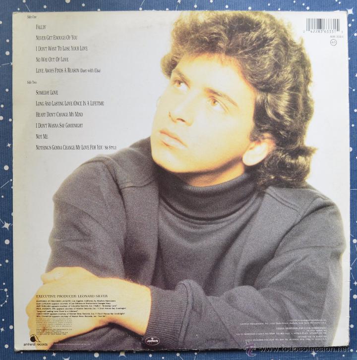 Discos de vinilo: GLENN MEDEIROS - NOT ME - AMHERST RECORDS - POLYGRAM IBERICA - 1988 - Foto 2 - 48945948