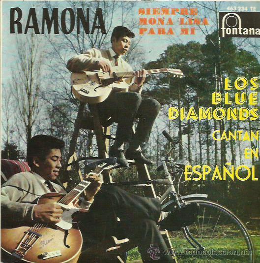 THE BLUE DIAMONDS EP SELLO FONTANA CANTADO EN ESPAÑOL (Música - Discos de Vinilo - EPs - Funk, Soul y Black Music)