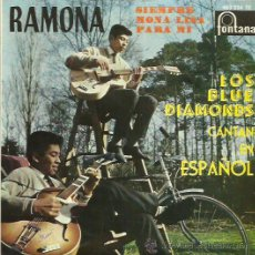 Discos de vinilo: THE BLUE DIAMONDS EP SELLO FONTANA CANTADO EN ESPAÑOL. Lote 48947368