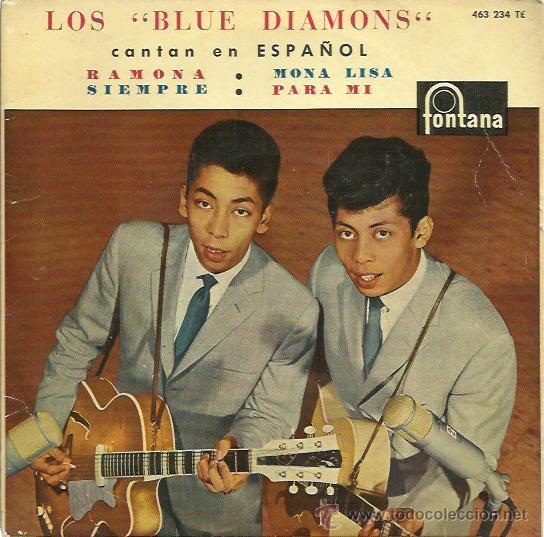 THE BLUE DIAMONDS EP SELLO FONTANA (Música - Discos de Vinilo - EPs - Funk, Soul y Black Music)