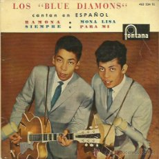 Discos de vinilo: THE BLUE DIAMONDS EP SELLO FONTANA . Lote 48947437