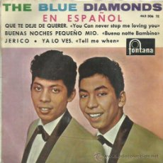 Discos de vinilo: THE BLUE DIAMONDS EP SELLO FONTANA CANTADO EN ESPAÑOL. Lote 48947479