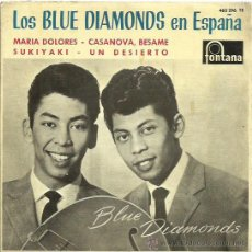 Discos de vinilo: THE BLUE DIAMONDS EP SELLO FONTANA CANTADO EN ESPAÑOL. Lote 48947507