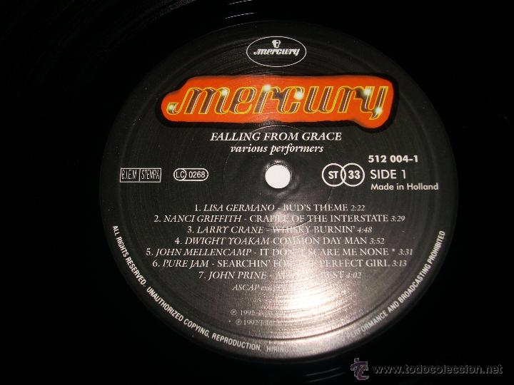 Discos de vinilo: FALLING FROM GRACE (1992 MERCURY HOLANDA) JOHN COUGAR MELLENCAMP LISA GERMANO DWIGHT YOAKAM - Foto 4 - 48948169