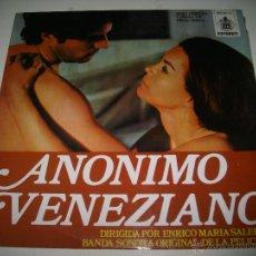 Discos de vinilo: ANONIMO VENEZIANO (1971 HISPAVOX ESPAÑA) STELVIO CIPRIANI. Lote 48948660