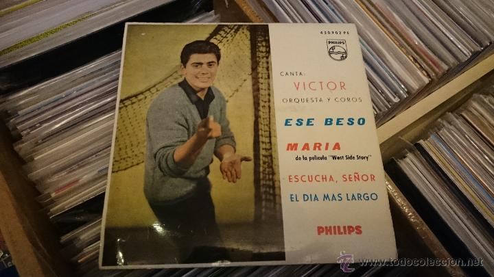 Discos de vinilo: Victor Orquesta y coros Ese Beso Maria West side story Disco de vinilo Ep Philips - Foto 2 - 48965811