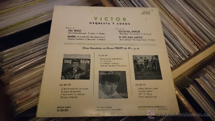 Discos de vinilo: Victor Orquesta y coros Ese Beso Maria West side story Disco de vinilo Ep Philips - Foto 3 - 48965811