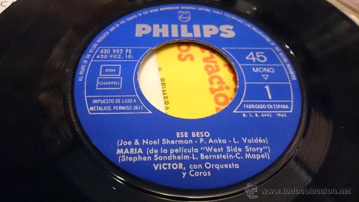 Discos de vinilo: Victor Orquesta y coros Ese Beso Maria West side story Disco de vinilo Ep Philips - Foto 4 - 48965811