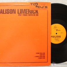 Discos de vinilo: ALISON LIMERICK PUT YOUR FAITH IN ME MAXI SINGLE VINYL MADE IN ENGLAND 1997. Lote 48968513