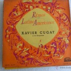 Discos de vinilo: XAVIER CUGAT - RITMOS LATINOAMERICANOS -MAMBO EN EL WALDORF + 3 EP . Lote 48979481