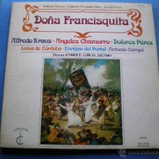 Discos de vinilo: DOÑA FRANCISQUITA .. 2 LP . ALFREDO KRAUS ANGELES CHAMORRO DOLORES PEREZ LUISA DE CORDOBA PEPETO. Lote 48982498