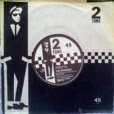 Discos de vinilo: SPECIALS. INTERNATIONAL JET SET/ STEREOTYPE. TWO-TONE, UK 1980 SINGLE ORIGINAL. Lote 48988037