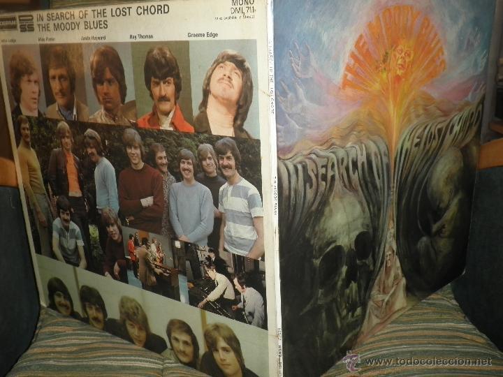 Discos de vinilo: MOODY BLUES - IN SEARCH OF THE LOST CHORD LP - !!!MONO!!!! ORIGINAL INGLES - DERAM 1968 ! GATEFOLD - Foto 5 - 48992052