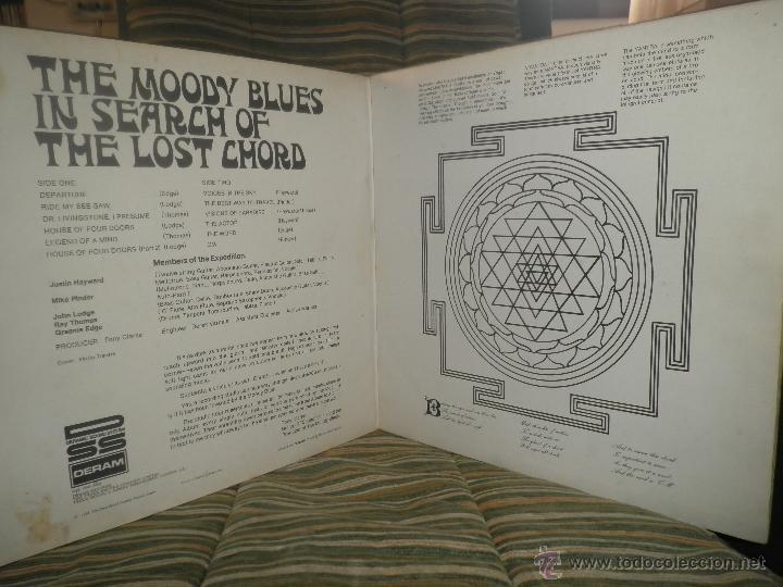 Discos de vinilo: MOODY BLUES - IN SEARCH OF THE LOST CHORD LP - !!!MONO!!!! ORIGINAL INGLES - DERAM 1968 ! GATEFOLD - Foto 8 - 48992052