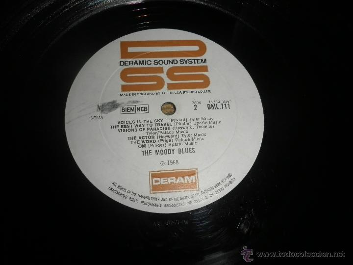 Discos de vinilo: MOODY BLUES - IN SEARCH OF THE LOST CHORD LP - !!!MONO!!!! ORIGINAL INGLES - DERAM 1968 ! GATEFOLD - Foto 25 - 48992052