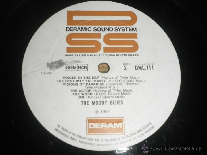 Discos de vinilo: MOODY BLUES - IN SEARCH OF THE LOST CHORD LP - !!!MONO!!!! ORIGINAL INGLES - DERAM 1968 ! GATEFOLD - Foto 26 - 48992052