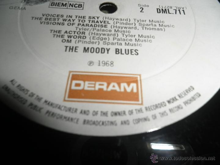 Discos de vinilo: MOODY BLUES - IN SEARCH OF THE LOST CHORD LP - !!!MONO!!!! ORIGINAL INGLES - DERAM 1968 ! GATEFOLD - Foto 28 - 48992052