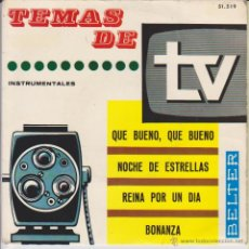 Discos de vinilo: TEMAS DE T. V. BELTER - REINA POR UN DIA - BONANZA + 2 - EP SPAIN 1965 VG++ / VG++. Lote 48993364