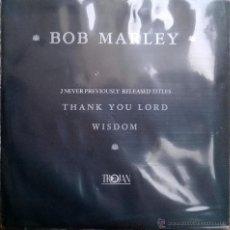 Discos de vinilo: BOB MARLEY. THANK YOU LORD/ WISDOM. TROJAN, UK 1981 SINGLE ORIGINAL (2 TÍTULOS INÉDITOS). Lote 48997328