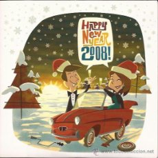 Discos de vinilo: EP-HAPPY NEW YEAR 2008-ELEFANT RECORDS 258-VINILO BLANCO-THE SCHOOL HELEN LOVE CORAZON. Lote 48997570