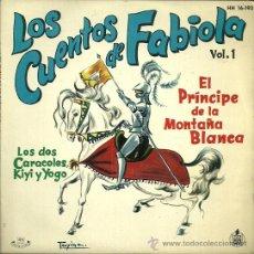 Discos de vinilo: LOS CUENTOS DE FABIOLA DE MORA Y ARAGON VOL.1 EP SELLO HISPAVOX AÑO 1962. Lote 49003326