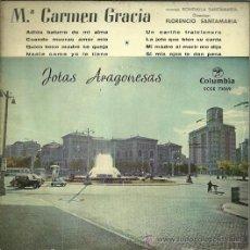 Discos de vinilo: Mª CARMEN GRACIA (JOTAS) EP SELLO COLUMBIA AÑO 1959. Lote 49003388