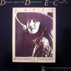 Disques de vinyle: DEREK AND THE DOMINOS / ERIC CLAPTON; LAYLA, LONG VERSION + WONDERFUL TONIGHT, LIVE. Lote 49008699