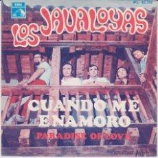 Discos de vinilo: LOS JAVALOYAS - PARADISE OF LOVE - CUANDO ME ENAMORO - SG SPAIN 1968 EX / EX. Lote 49011577