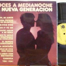 Discos de vinilo: LA NUEVA GENERACION - VOCES A MEDIANOCHE (LP IMPACTO 1974 SPAIN). Lote 49012896