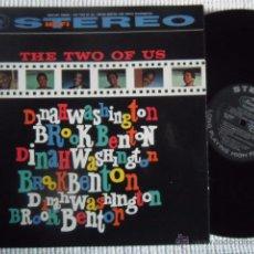 Discos de vinilo: DINAH WASHINGTON AND BROOK BENTON - '' THE TWO OF US '' LP ORIGINAL USA STEREO. Lote 49019237