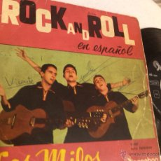 Discos de vinilo: LOS MILOS - TEDDY GIRL + 3 ( EP)!! FIRMADO POR EL GRUPO !!. Lote 49025860