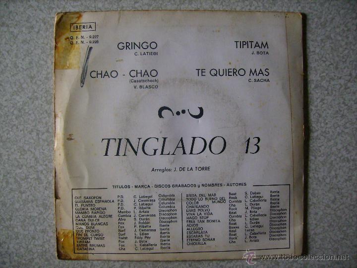 Discos de vinilo: TINGLADO 13.GRINGO + 3 - Foto 2 - 49041318