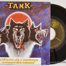 Discos de vinilo: TANK HE FELL IN LOVE WITH A STORMTROOPER (ZAFIRO, SINGLE, 1982) HARD HEAVY. Lote 49050155
