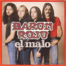Discos de vinilo: BARON ROJO EL MALO/ ROCKERO INDOMABLE 7'' SINGLE 1983 CHAPA DISCOS . Lote 49050190