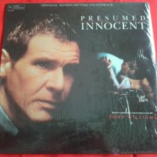 Discos de vinilo: JOHN WILLIAMS - PRESUMED INNOCENT (ORIGINAL MOTION PICTURE SOUNDTRACK) (LP). Lote 49055604