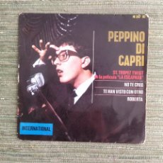 Discos de vinilo: PEPPINO DI CAPRI - EP HISPAVOX 1964. Lote 49055899