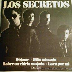 Discos de vinilo: LOS SECRETOS -EP- DÉJAME + 3 SPAIN JOYA MOVIDA 80,S. Lote 57068671