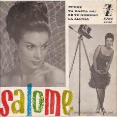 Discos de vinilo: EP-SALOME CUORE-ZAFIRO 487-SPAIN 1963. Lote 49060684