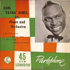 Discos de vinilo: EP-EARL FATHA HINES IN THE ATTIC-PARLOPHONE 8563-UK 195??-JAZZ-TRI CENTER. Lote 49060762