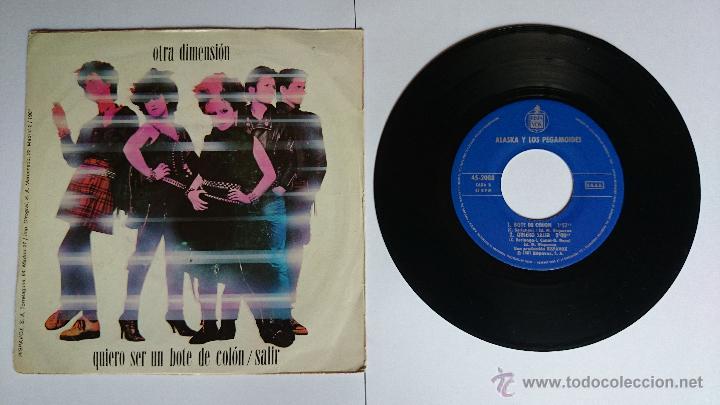 Discos de vinilo: ALASKA y LOS PEGAMOIDES - OTRA DIMENSION / BOTE DE COLON / QUIERO SALIR (1981) - Foto 2 - 49060909