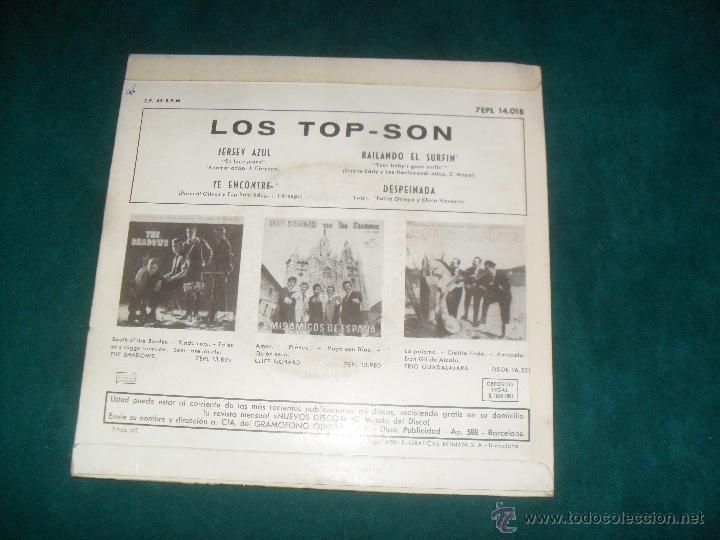 Discos de vinilo: LOS TOP-SON, LA VOZ DE SU AMO 1964. EP. 4 TEMAS - Foto 2 - 49074208