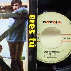 Discos de vinilo: DISCO DE VINILO, SINGLE, LOS BRINCOS, ERES TU, TU ME DIJISTE ADIOS, NOVOLA, ZAFIRO, NOX 19, 1966. Lote 49078105