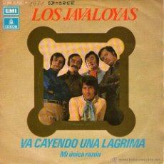 """Discos de vinilo: LOS JAVALOYAS - SINGLE 7"""" - EDITADO EN ESPAÑA - VA CAYENDO UNA LÁGRIMA + 1 - EMI - AÑO 1971. Lote 49078346"""