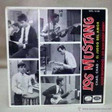 Discos de vinilo: DISCO DE VINILO, EP, LOS MUSTANG, CHAO CHAO, EL JUEGO DEL AMOR, EMI, 7EPL 14150. Lote 49078352