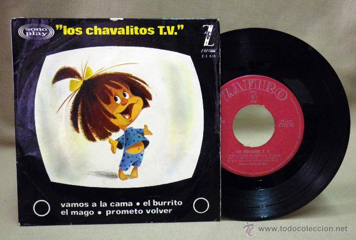 DISCO DE VINILO, EP, LOS CHAVALITOS TV, VAMOS A LA CAMA Y OTROS, FAMILIA TELERIN, ZAFIRO, ZE 616 (Música - Discos de Vinilo - EPs - Música Infantil)